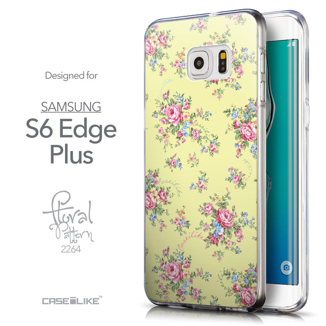 Front & Side View - CASEiLIKE Samsung Galaxy S6 Edge Plus back cover Floral Rose Classic 2264