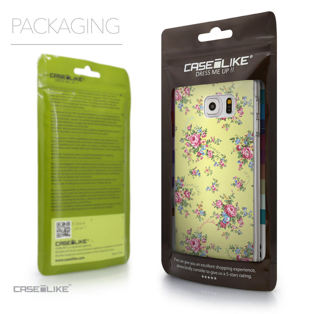 Packaging - CASEiLIKE Samsung Galaxy S6 Edge Plus back cover Floral Rose Classic 2264