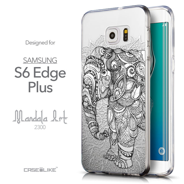 Front & Side View - CASEiLIKE Samsung Galaxy S6 Edge Plus back cover Mandala Art 2300