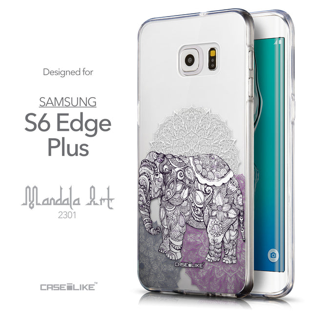 Front & Side View - CASEiLIKE Samsung Galaxy S6 Edge Plus back cover Mandala Art 2301