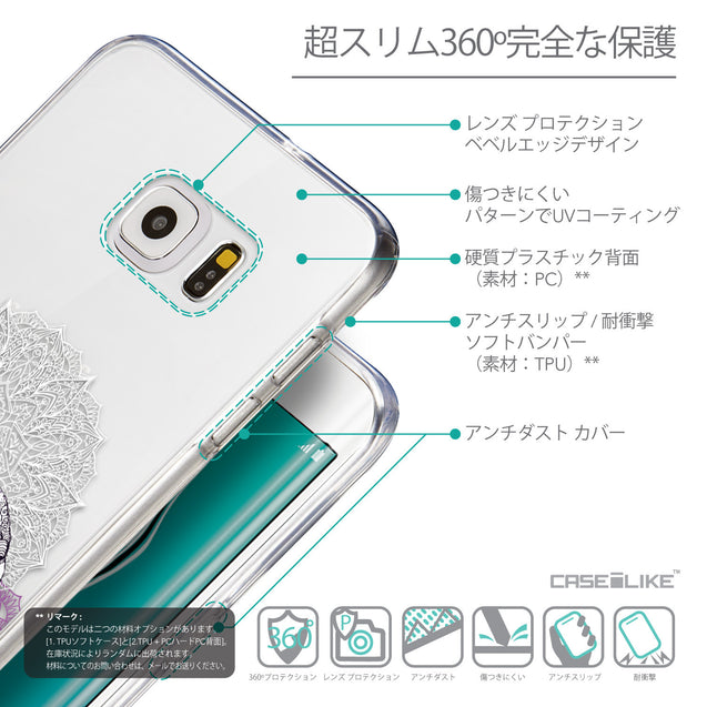 Details in Japanese - CASEiLIKE Samsung Galaxy S6 Edge Plus back cover Mandala Art 2301