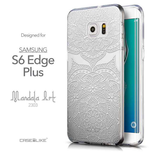Front & Side View - CASEiLIKE Samsung Galaxy S6 Edge Plus back cover Mandala Art 2303