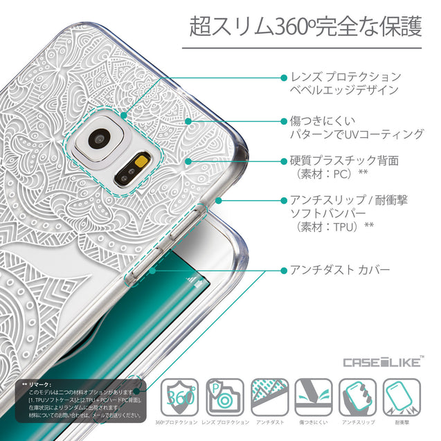 Details in Japanese - CASEiLIKE Samsung Galaxy S6 Edge Plus back cover Mandala Art 2303