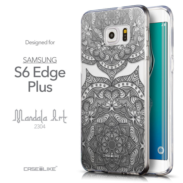 Front & Side View - CASEiLIKE Samsung Galaxy S6 Edge Plus back cover Mandala Art 2304