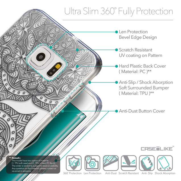 Details in English - CASEiLIKE Samsung Galaxy S6 Edge Plus back cover Mandala Art 2304