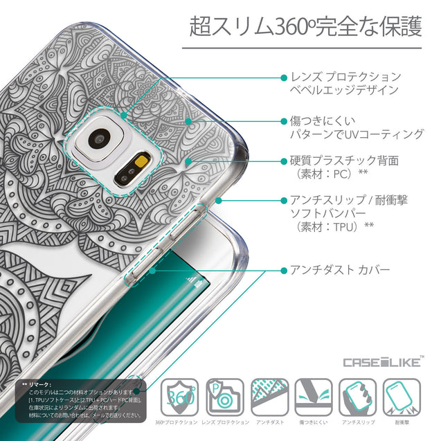 Details in Japanese - CASEiLIKE Samsung Galaxy S6 Edge Plus back cover Mandala Art 2304