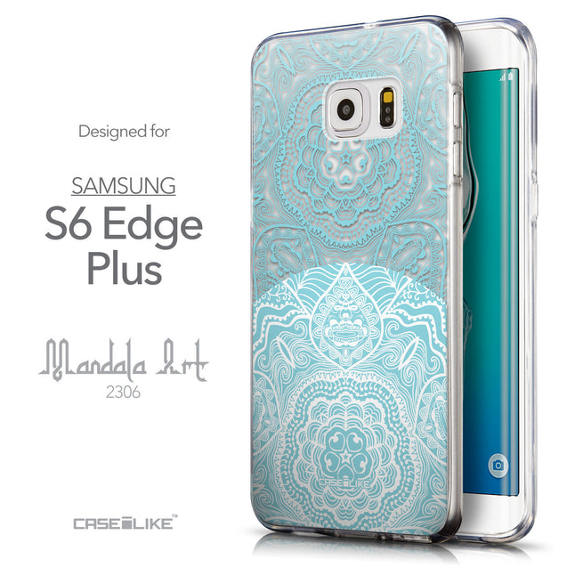 Front & Side View - CASEiLIKE Samsung Galaxy S6 Edge Plus back cover Mandala Art 2306