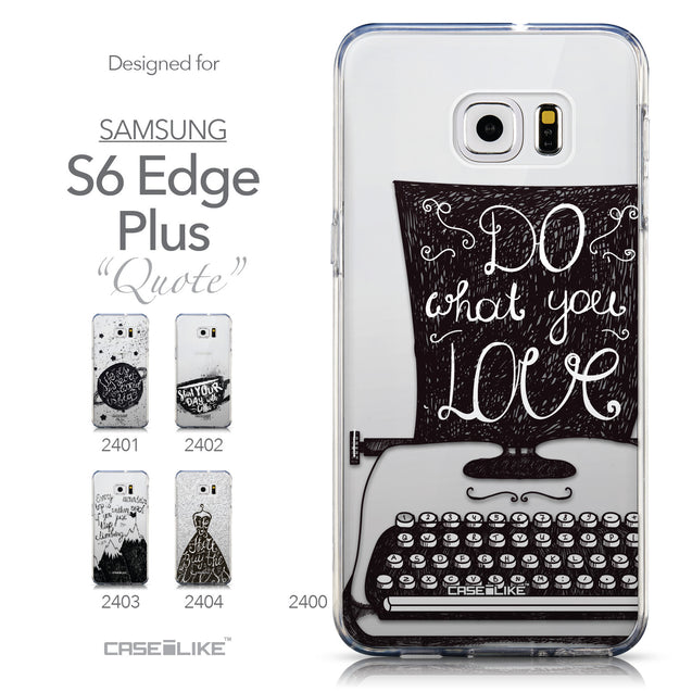 Collection - CASEiLIKE Samsung Galaxy S6 Edge Plus back cover Quote 2400
