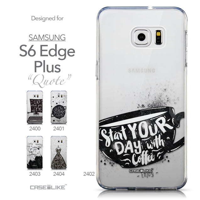 Collection - CASEiLIKE Samsung Galaxy S6 Edge Plus back cover Quote 2402