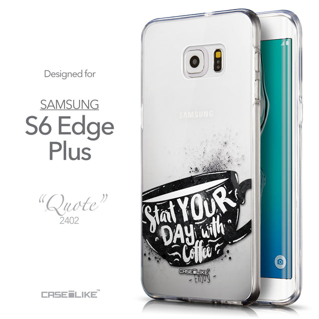 Front & Side View - CASEiLIKE Samsung Galaxy S6 Edge Plus back cover Quote 2402