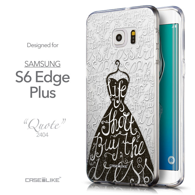 Front & Side View - CASEiLIKE Samsung Galaxy S6 Edge Plus back cover Indian Tribal Theme Pattern 2053