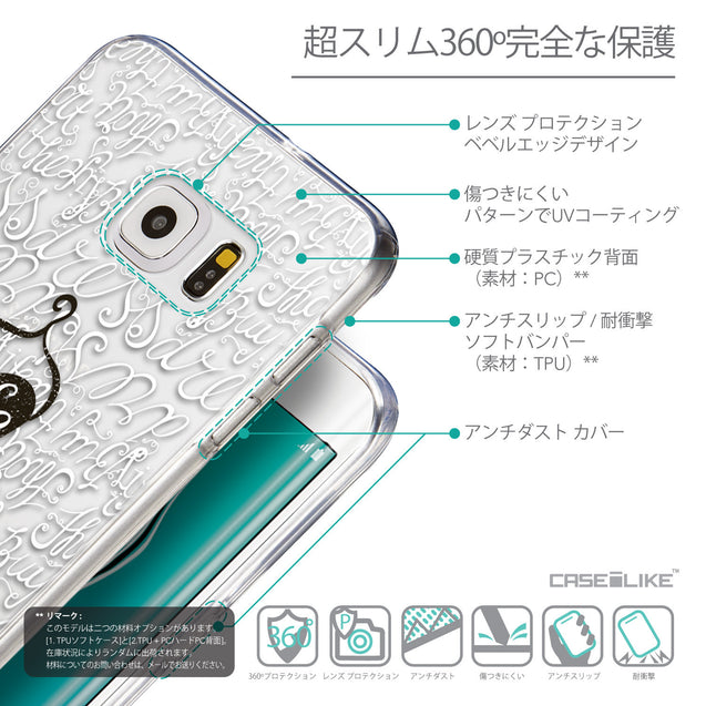 Details in Japanese - CASEiLIKE Samsung Galaxy S6 Edge Plus back cover Indian Tribal Theme Pattern 2053