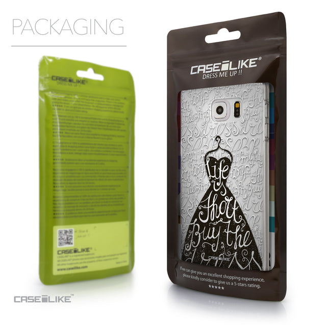 Packaging - CASEiLIKE Samsung Galaxy S6 Edge Plus back cover Indian Tribal Theme Pattern 2053