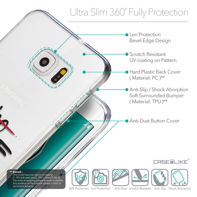 Details in English - CASEiLIKE Samsung Galaxy S6 Edge Plus back cover Quote 2405
