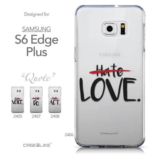 Collection - CASEiLIKE Samsung Galaxy S6 Edge Plus back cover Quote 2406