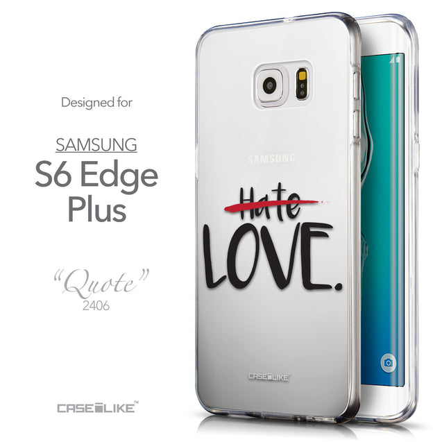 Front & Side View - CASEiLIKE Samsung Galaxy S6 Edge Plus back cover Quote 2406