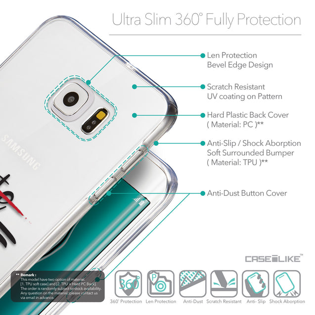Details in English - CASEiLIKE Samsung Galaxy S6 Edge Plus back cover Quote 2406