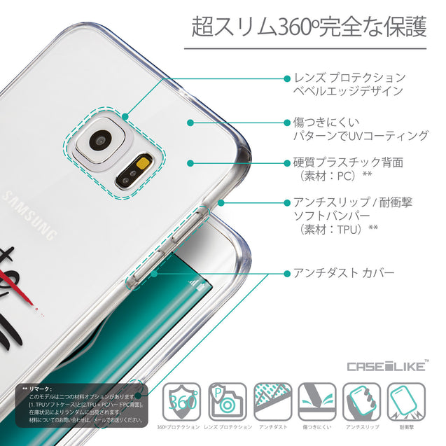 Details in Japanese - CASEiLIKE Samsung Galaxy S6 Edge Plus back cover Quote 2406