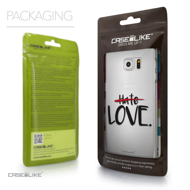 Packaging - CASEiLIKE Samsung Galaxy S6 Edge Plus back cover Quote 2406