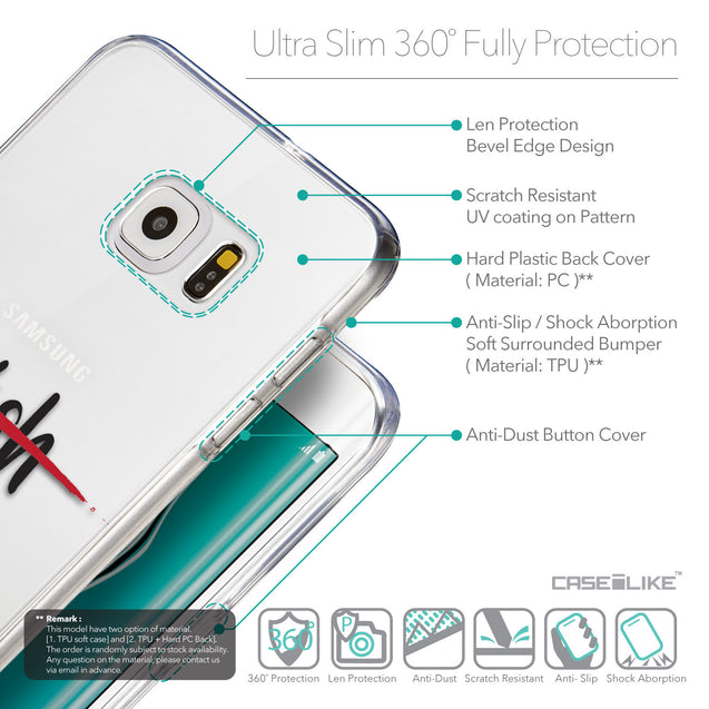 Details in English - CASEiLIKE Samsung Galaxy S6 Edge Plus back cover Quote 2407