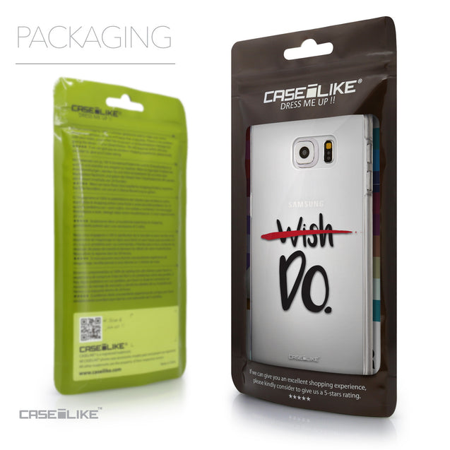 Packaging - CASEiLIKE Samsung Galaxy S6 Edge Plus back cover Quote 2407