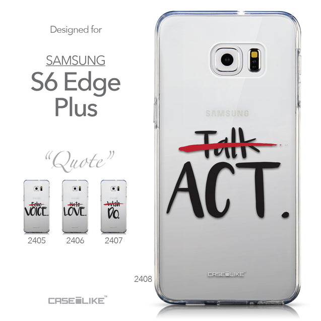 Collection - CASEiLIKE Samsung Galaxy S6 Edge Plus back cover Quote 2408
