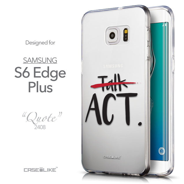 Front & Side View - CASEiLIKE Samsung Galaxy S6 Edge Plus back cover Quote 2408