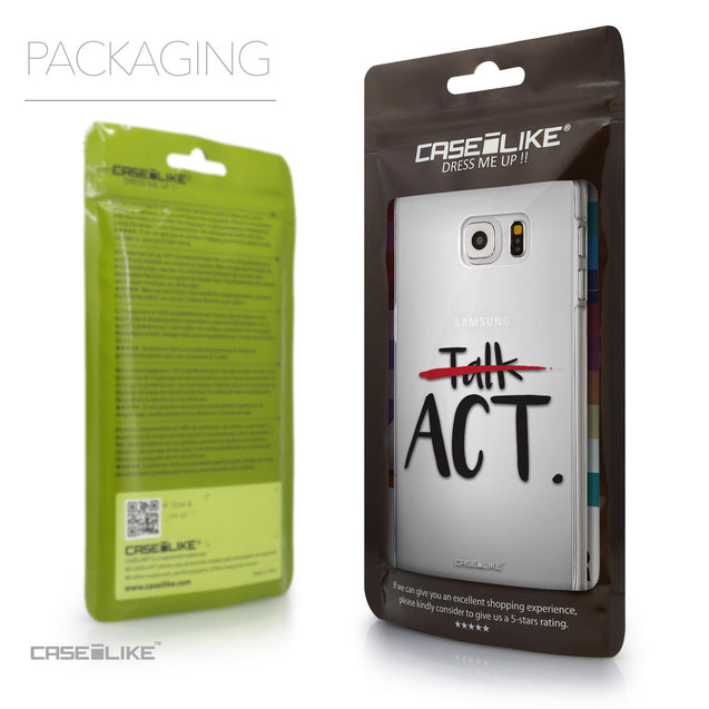Packaging - CASEiLIKE Samsung Galaxy S6 Edge Plus back cover Quote 2408