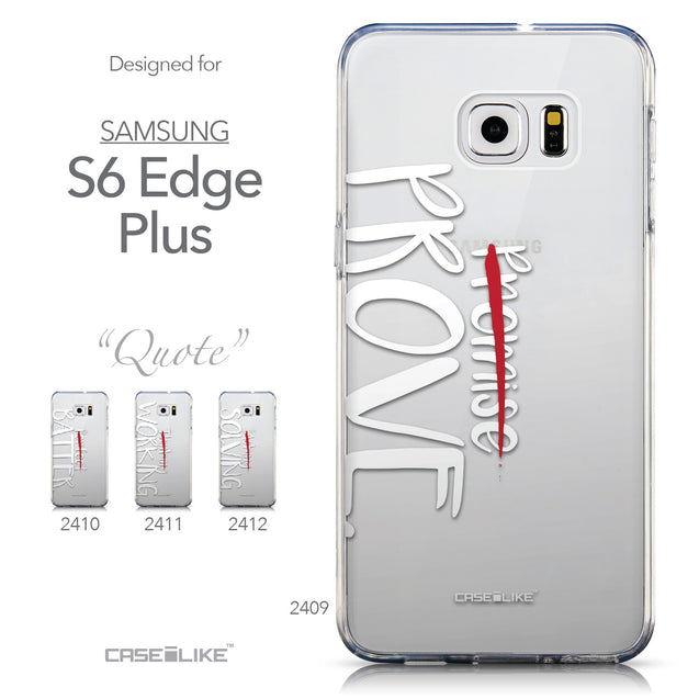 Collection - CASEiLIKE Samsung Galaxy S6 Edge Plus back cover Quote 2409