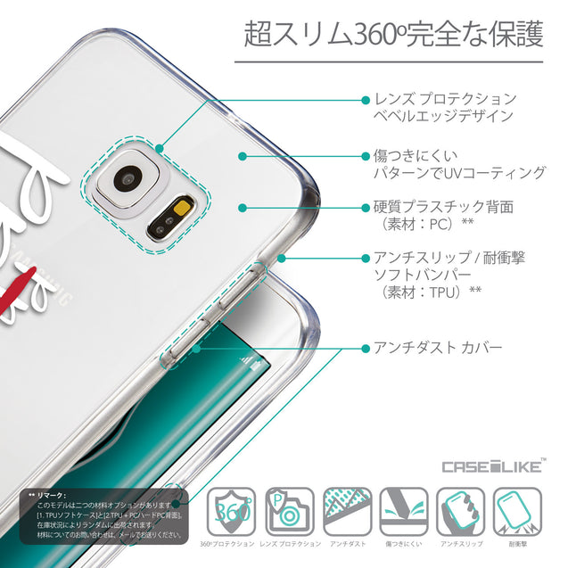 Details in Japanese - CASEiLIKE Samsung Galaxy S6 Edge Plus back cover Quote 2409