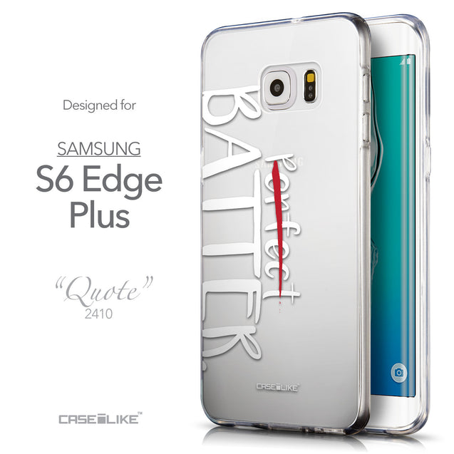 Front & Side View - CASEiLIKE Samsung Galaxy S6 Edge Plus back cover Quote 2410