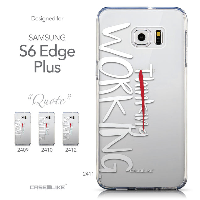 Collection - CASEiLIKE Samsung Galaxy S6 Edge Plus back cover Quote 2411