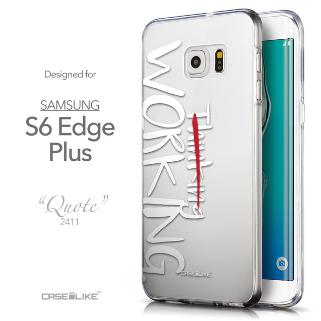 Front & Side View - CASEiLIKE Samsung Galaxy S6 Edge Plus back cover Quote 2411