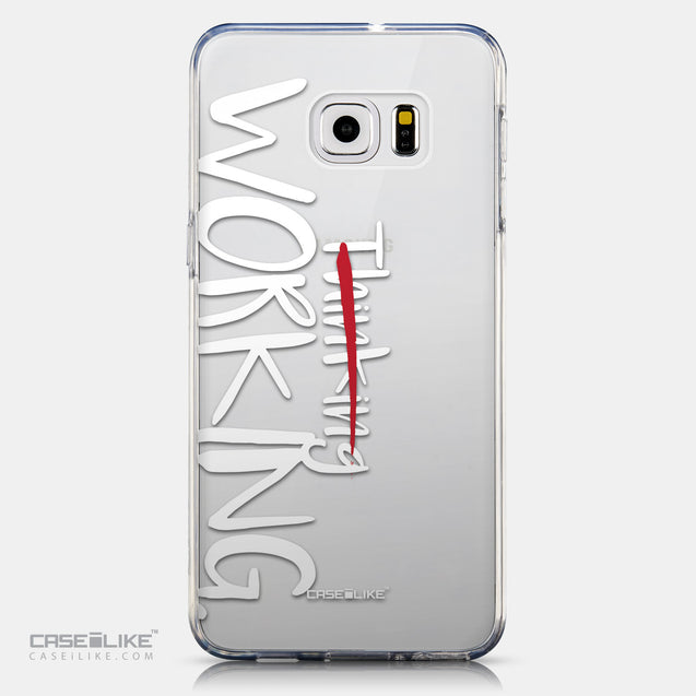 CASEiLIKE Samsung Galaxy S6 Edge Plus back cover Quote 2411