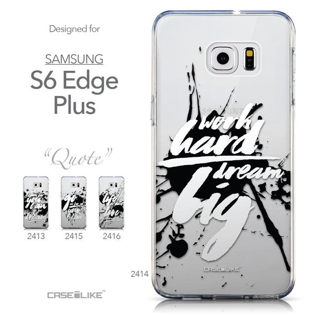 Collection - CASEiLIKE Samsung Galaxy S6 Edge Plus back cover Quote 2414