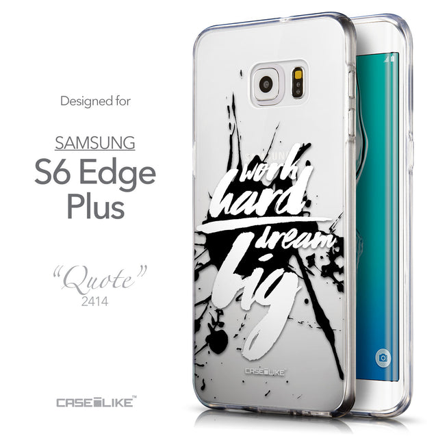 Front & Side View - CASEiLIKE Samsung Galaxy S6 Edge Plus back cover Quote 2414