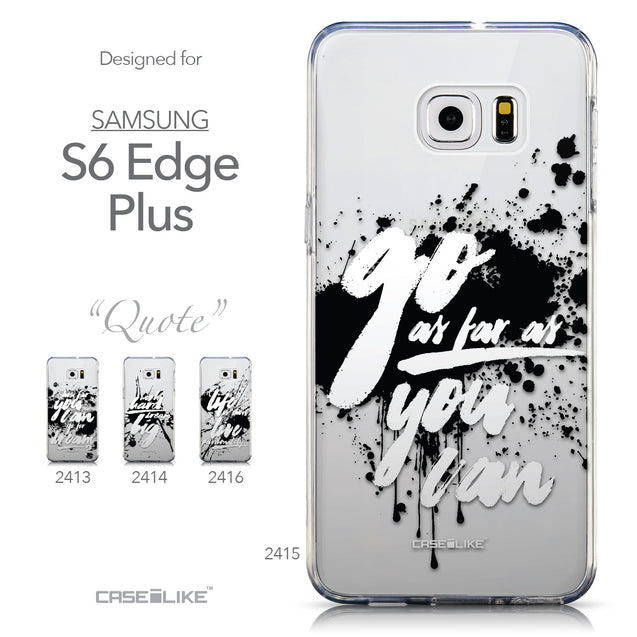 Collection - CASEiLIKE Samsung Galaxy S6 Edge Plus back cover Quote 2415