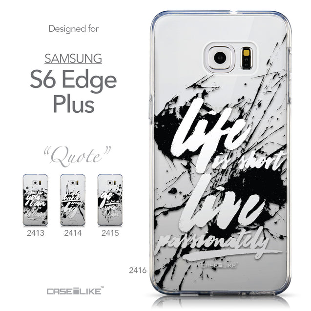 Collection - CASEiLIKE Samsung Galaxy S6 Edge Plus back cover Quote 2416