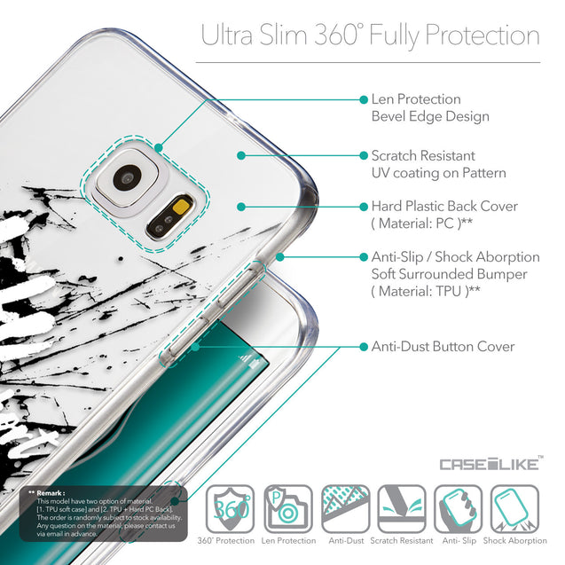 Details in English - CASEiLIKE Samsung Galaxy S6 Edge Plus back cover Quote 2416