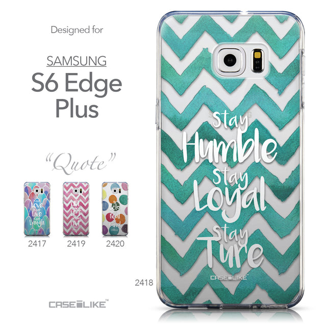 Collection - CASEiLIKE Samsung Galaxy S6 Edge Plus back cover Quote 2418
