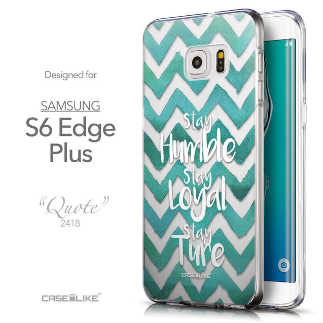 Front & Side View - CASEiLIKE Samsung Galaxy S6 Edge Plus back cover Quote 2418