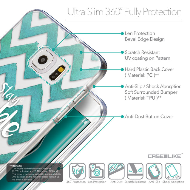 Details in English - CASEiLIKE Samsung Galaxy S6 Edge Plus back cover Quote 2418