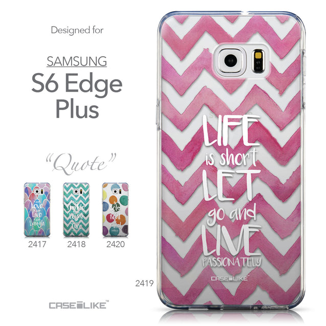 Collection - CASEiLIKE Samsung Galaxy S6 Edge Plus back cover Quote 2419