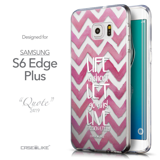 Front & Side View - CASEiLIKE Samsung Galaxy S6 Edge Plus back cover Quote 2419