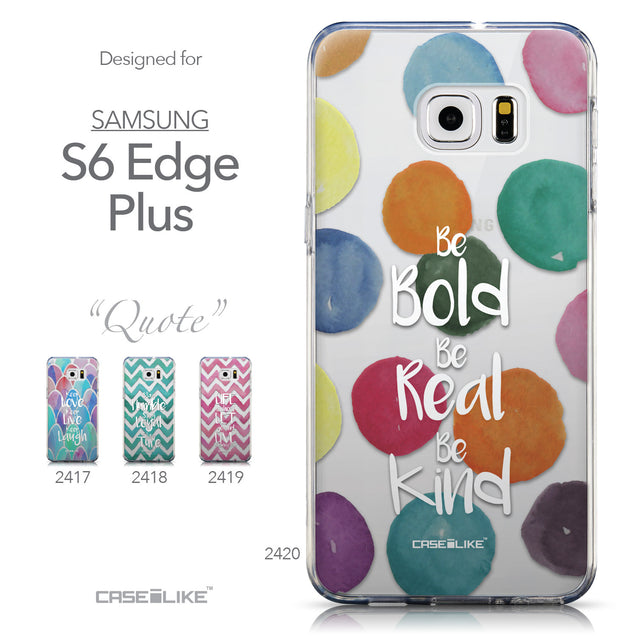 Collection - CASEiLIKE Samsung Galaxy S6 Edge Plus back cover Quote 2420