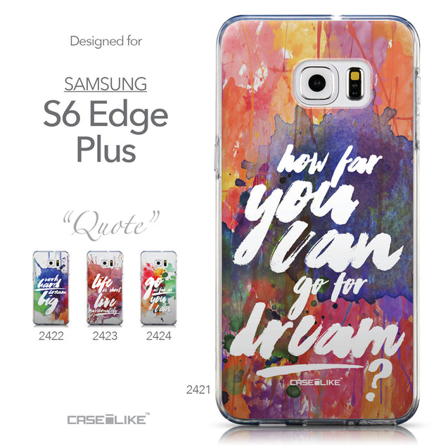 Collection - CASEiLIKE Samsung Galaxy S6 Edge Plus back cover Quote 2421