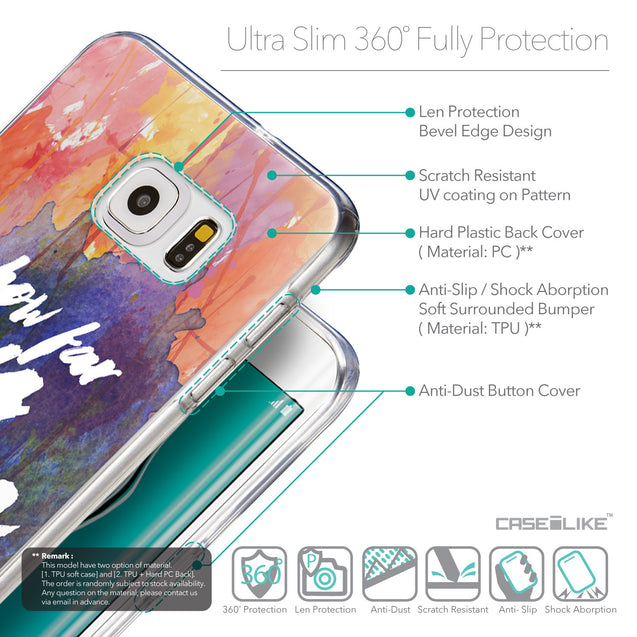 Details in English - CASEiLIKE Samsung Galaxy S6 Edge Plus back cover Quote 2421