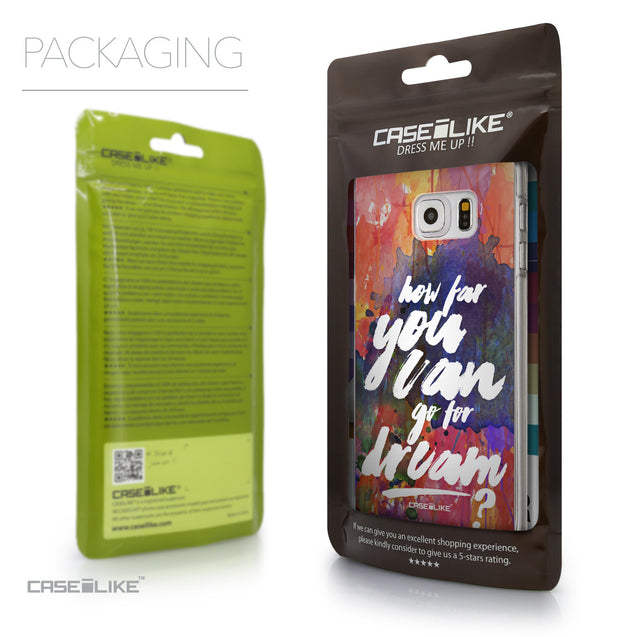 Packaging - CASEiLIKE Samsung Galaxy S6 Edge Plus back cover Quote 2421