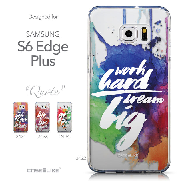 Collection - CASEiLIKE Samsung Galaxy S6 Edge Plus back cover Quote 2422