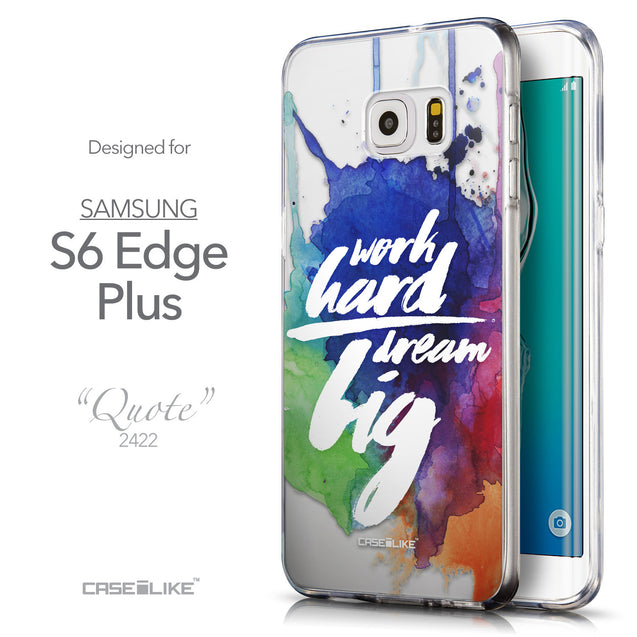 Front & Side View - CASEiLIKE Samsung Galaxy S6 Edge Plus back cover Quote 2422